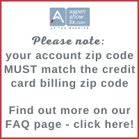 Please note: your account zip code must match the credit card billing zip code. Find out more on our FAQ page by clicking here.